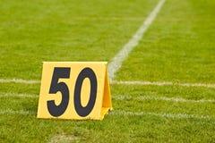 橄榄球调车场界线 免版税库存图片
