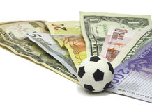 橄榄球货币 免版税库存图片