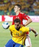 橄榄球赛匈牙利瑞典与 免版税库存图片