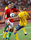 橄榄球赛匈牙利瑞典与 免版税图库摄影