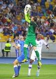 橄榄球赛基辅迪纳摩对FC Dnipro 免版税库存图片