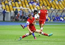 橄榄球赛基辅迪纳摩对Metalurh Zaporizhya 库存照片