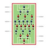 橄榄球赛孤立球员表二 向量例证