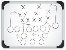 橄榄球赛计划配合whiteboard 库存例证
