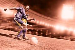 橄榄球赛 免版税库存图片