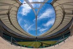 橄榄球足球场圆形剧场。 库存图片