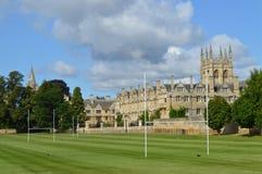 橄榄球领域在牛津 免版税库存图片