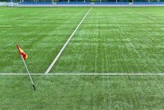 橄榄球领域 免版税库存图片