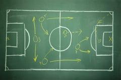 橄榄球飞行的足球 图库摄影