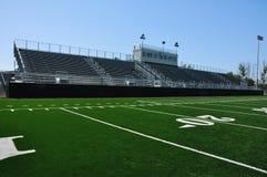橄榄球高中体育场 库存照片