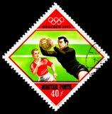 橄榄球,夏季奥运会1972年,慕尼黑serie,大约1972年 免版税库存照片