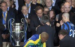 橄榄球:冠军同盟决赛2010年 免版税库存图片