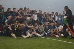 橄榄球:冠军同盟决赛2010年 库存图片