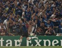 橄榄球:冠军同盟决赛2010年 库存照片