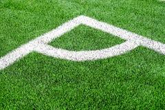 橄榄球& x28的角落; soccer& x29;领域 库存照片