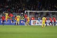 橄榄球-罗马尼亚对 西班牙 免版税库存照片