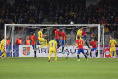 橄榄球-罗马尼亚对 西班牙 免版税库存图片