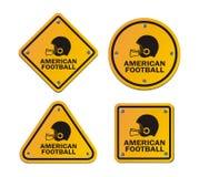 橄榄球-黄色标志 免版税库存照片