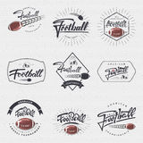 橄榄球-证章,贴纸能使用设计网站,衣裳 免版税库存照片