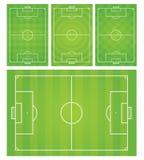 橄榄球/足球场传染媒介例证 免版税图库摄影