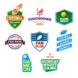 橄榄球主题的徽章 免版税库存照片