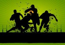 橄榄球grunge海报 库存照片