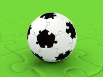 橄榄球puzzleball 库存照片