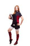橄榄球s妇女 免版税图库摄影