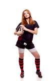 橄榄球s妇女 免版税库存图片