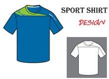 橄榄球T恤杉模板的传染媒介例证 库存图片