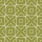 橄榄绿几何装饰品 无缝的模式 图库摄影