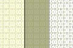 橄榄绿和白色几何无缝的样式 库存照片