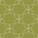 橄榄绿和白色几何装饰品 无缝的模式 库存照片