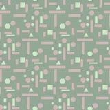 橄榄绿无缝的几何样式 免版税图库摄影