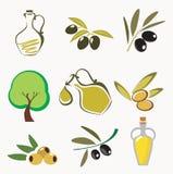 橄榄色收集的图标 向量例证