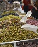 橄榄色的摊位 免版税库存照片