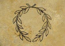 橄榄色的标志花圈  库存照片