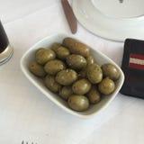 橄榄色的食物绿色健康生物 免版税库存照片