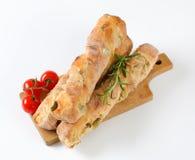 橄榄色的ciabatta面包 库存照片
