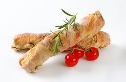橄榄色的ciabatta面包 免版税库存图片