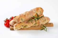 橄榄色的ciabatta面包 免版税库存照片