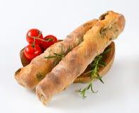 橄榄色的ciabatta面包 免版税图库摄影