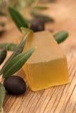 橄榄色肥皂 库存照片