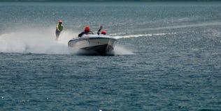滑水橇赛跑 图库摄影