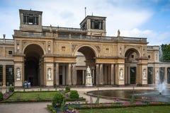 橘园宫殿在公园Sanssouci,波茨坦,德国 免版税库存图片
