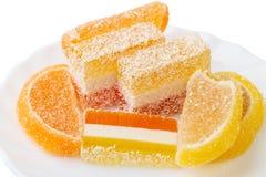 橘子果酱各种各样的片断  免版税库存图片