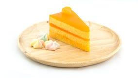 橘子蛋糕和蛋白甜饼 免版税库存照片