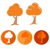橙树象集合 免版税库存图片