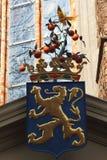 橙树,伟大的教会在吕伐登 库存图片