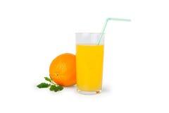 橙汁和切片 库存图片